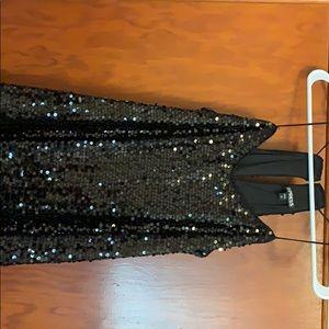 Black sequence Dress